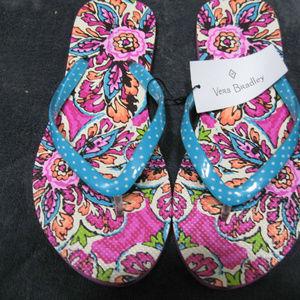 Vera Bradley Flip Flops in Sunburst Floral large